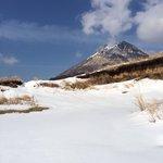 大雪の後の由布岳 狭霧台より少し上から