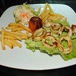 Grilled calamari dish
