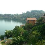 View from the room on lake Kivu
