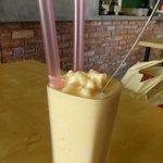 Bikini shake - Vanilla ice cream blended with coconut water.