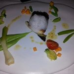 oyster cooked in cava foam