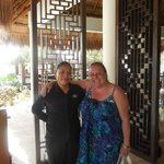 Elizabeth always greets you at VIP La Palapa.