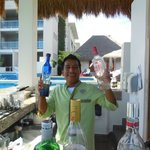 Emmanuel, our favorite bartender at VIP pool bar. Lucio: BOOOOOOOOOOOOOOOOOOOOOOOOOOOOOOOOO
