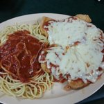 Chicken parm and pasta