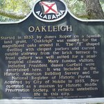 Historical marker outside the house.