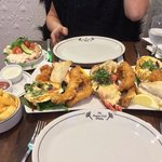 Seafood sharing platter very nice and filling.