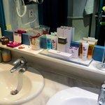good selection of toiletries