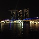 Water and Light Show on Marina Bay!