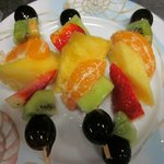 La brochette de fruit
