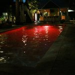 pool w/ dancing lights.