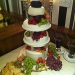 wedding cake made of assorted cheese