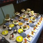 selection of buffet desserts