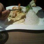 Crevettes sautées (menu du midi)