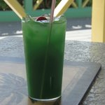 Delicious palm frond cocktail - no alcohol!