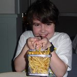 my son shaking micro fryer