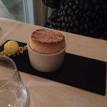 Souffle with lemon icecream...a very good dessert
