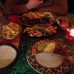 Chicken fajita and chicken and ribs!
