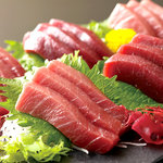 三色マグロ刺身 (Assorted Tuna Sashimi)