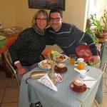 My wife Miranda with host Aldo