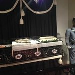 wax figure of Lincoln in his casket