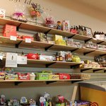 Shelves of old-time candies and new kid favorites