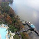 Vista do décimo quinto andar em direção ao lago