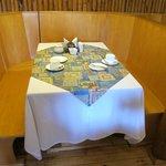 Table in the diningroom/breakfast