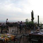 At Mexican restaurant (Grand Palladium side)