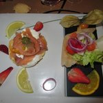 Blinis au saumon et chèvre frais
