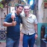 My partner Darren and Xavi