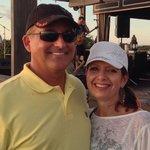 Pete & Lori fun on the upper deck!