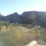 Vista desde la terraza de la habitacion de la casa el naranjo, las casitas de la sierra, Monteja