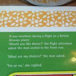 From the breakfast sous-plat (table mat)- it made my day!...