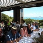 Group dining with a view