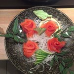 salmon sashimi beautiful....
