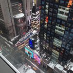 Times Square from my room.