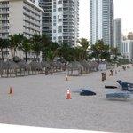 praia de acesso do hotel