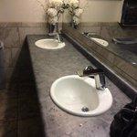Women's restroom vanity