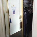 The wardrobe - it is a double door so plenty of space