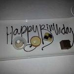 Birthday desert selection