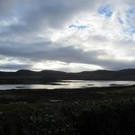 view over Loch Eriboll first thing in the morning