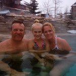 Loved relaxing in the hot tubs after a long day on the slopes