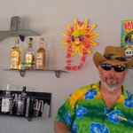 Nothing wrong with bright tropical shirts, according to our barman CeeBass