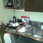 Kitchenette in duplex room 308