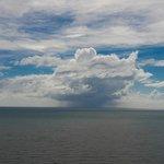 Rain cloud over sea from A Villa Gail