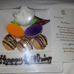nice gift from hotel fory bday