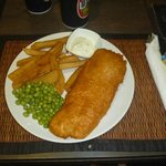 Generous portions of fish & homemade chips