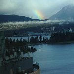 A beautiful rainbow seen from the concierge lounge.