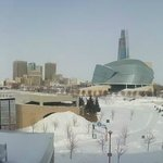 panoramic view of downtown Winnipeg