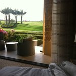 View from the junior suite to the golf course